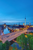 Historyczny centrum Berlin po zmierzchu obrazy stock
