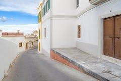 Historyczny centrum, Dalt Vila, Unesco światowego dziedzictwa miejsce, Ibiza, Zdjęcie Stock