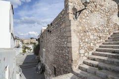 Historyczny centrum, Dalt Vila, Unesco światowego dziedzictwa miejsce, Ibiza, Obraz Stock