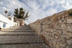 Historyczny centrum, Dalt Vila, Unesco światowego dziedzictwa miejsce, Ibiza Obrazy Stock