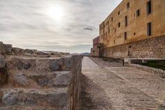 Historyczny centrum, Dalt Vila, Unesco światowego dziedzictwa miejsce, Ibiza Zdjęcia Stock