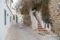 Historyczny centrum, Dalt Vila, Unesco światowego dziedzictwa miejsce, Ibiza Fotografia Royalty Free