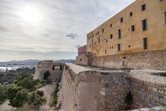Historyczny centrum, Dalt Vila, Unesco światowego dziedzictwa miejsce, Ibiza Zdjęcia Royalty Free