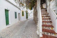 Historyczny centrum, Dalt Vila, Unesco światowego dziedzictwa miejsce, Ibiza Obraz Stock