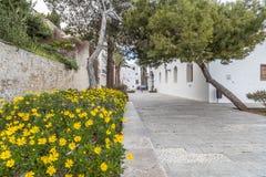 Historyczny centrum, Dalt Vila, Unesco światowego dziedzictwa miejsce, Ibiza Fotografia Stock