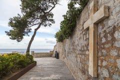 Historyczny centrum, Dalt Vila, Unesco światowego dziedzictwa miejsce, Ibiza, E Zdjęcie Stock