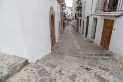 Historyczny centrum, Dalt Vila, Unesco światowego dziedzictwa miejsce, Ibiza, E Obraz Stock