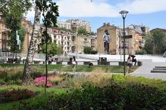 Historyczny centrum, park, obrazek na ścianie Zdjęcie Stock