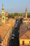 Historyczny centrum Spilamberto, Włochy Odgórny widok od fortecy Obrazy Royalty Free