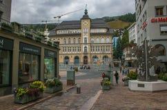 Historyczny centrum Tonę Moritz wysokogórski miasto w Szwajcaria Zdjęcia Royalty Free