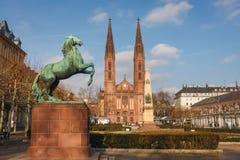 Historyczny centrum Wiesbaden zdjęcie stock