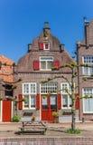 Historyczny dom przy kanałem w Hasselt Obrazy Royalty Free