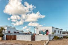 Historyczny dom w Paternoster na Atlantyckim oceanu wybrzeżu obrazy royalty free