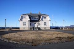 Historyczny dom zatoką w Reykjavik Obrazy Stock