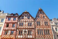 Historyczny Domowy fasadowy magistrala rynek w odważniaku Rhineland Palatinate zdjęcie royalty free