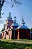 Historyczny Drewniany kościół blisko Muszynka fotografia stock