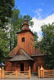 Historyczny drewniany kościół Nasz dama Częstochowski w Zakopane zdjęcie stock