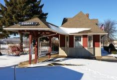 Historyczny dworzec na Cudahy, Wisconsin zdjęcia royalty free
