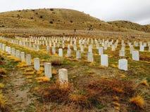 Historyczny fortu Boise Militarnej rezerwy cmentarz, Boise Idaho Obrazy Royalty Free