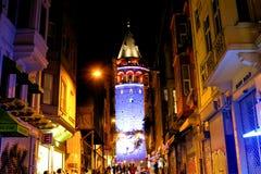 Historyczny Galata wierza, Beyoglu Istanbuł zdjęcie royalty free