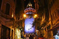 Historyczny Galata wierza, Beyoglu, Istanbuł zdjęcia stock
