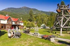 Historyczny górniczy wyposażenie na pokazie Zdjęcie Royalty Free