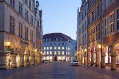 Historyczny grodzki centrum Muenster, Niemcy Zdjęcia Stock