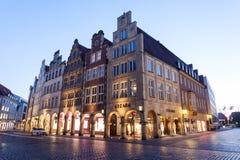 Historyczny grodzki centrum Muenster, Niemcy Zdjęcie Royalty Free