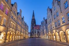 Historyczny grodzki centrum Muenster, Niemcy Obraz Royalty Free