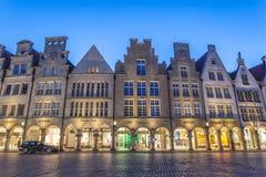 Historyczny grodzki centrum Muenster, Niemcy Fotografia Stock