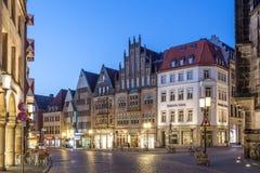 Historyczny grodzki centrum Muenster, Niemcy Obrazy Stock