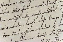 Historyczny Handwriting styl na ręcznie robiony papierze Fotografia Royalty Free
