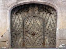 Historyczny hasłowy drzwi w Niemieckim mieście Fotografia Royalty Free
