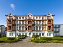 Historyczny Haus Seeblick przy deptakiem Ahlbeck Zdjęcie Royalty Free