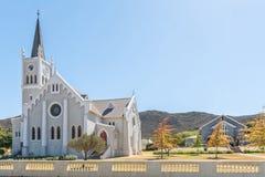 Historyczny holender Reformował kościół i sala w Barrydale Zdjęcia Stock
