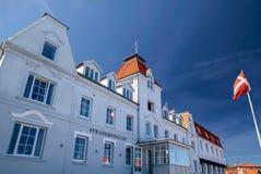 Historyczny hotel na Bornholm zdjęcia royalty free