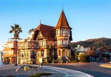 Historyczny hotelowy dwukropek, symbol miejscowość wypoczynkowa Piriapolis Zdjęcie Royalty Free