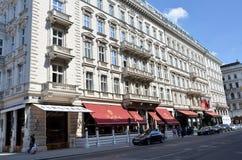 Historyczny hotelowy Sacher w Wiedeń Zdjęcia Royalty Free