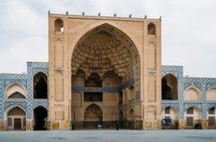 Historyczny imama meczet przy Naghsh-e Jahan kwadratem, Isfahan, Iran Budowa zaczynał w 1611 i jest jeden arcydzieła Obraz Stock