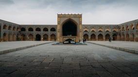 Historyczny imama meczet przy Naghsh-e Jahan kwadratem, Isfahan, Iran Budowa zaczynał w 1611 i jest jeden arcydzieła Obrazy Stock