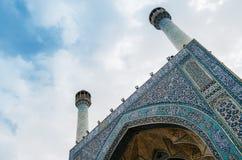 Historyczny imama meczet przy Naghsh-e Jahan kwadratem, Isfahan, Iran Budowa zaczynał w 1611 i jest jeden arcydzieła Zdjęcia Stock