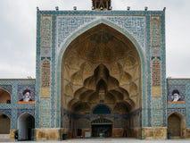 Historyczny imama meczet przy Naghsh-e Jahan kwadratem, Isfahan, Iran Budowa zaczynał w 1611 i jest jeden arcydzieła Zdjęcia Royalty Free