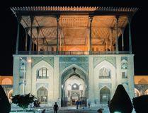 Historyczny imama meczet przy Naghsh-e Jahan kwadratem, Isfahan, Iran Budowa zaczynał w 1611 i jest jeden arcydzieła Fotografia Stock