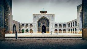 Historyczny imama meczet przy Naghsh-e Jahan kwadratem, Isfahan, Iran Budowa zaczynał w 1611 i jest jeden arcydzieła Obrazy Royalty Free
