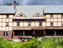 Historyczny Izaak Walton lodowa Hotelowy pobliski park narodowy w Montana Obraz Royalty Free