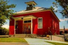 Historyczny jeden izbowy budynek szkoły zdjęcia royalty free