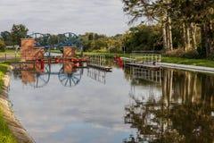 Historyczny kanałowy pobliski Elbląski Jeleń rampa Zdjęcie Royalty Free