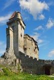 Historyczny kasztel na niebieskiego nieba tle Liechtenstein, Niski Aus Fotografia Stock