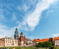 Historyczny kasztel w starym Krakow Obraz Stock