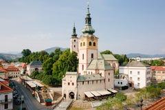 Historyczny kościół Banska Bystrica Fotografia Royalty Free